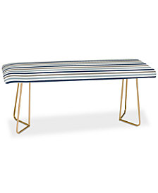 Deny Designs Little Arrow Design Co Multi Blue Stripes Bench