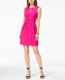 Trina Turk Anastasia Cutout-Detail Fit & Flare Dress