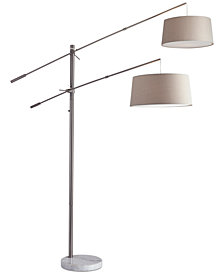 Adesso Manhattan Two-Arm Arc Floor Lamp
