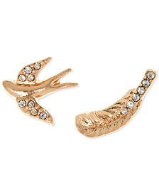 lonna & lilly Gold-Tone Pavé Mismatch Stud Earrings