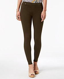 Style & Co Twill Pull-On Leggings, Created for Macy's