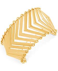 Steve Madden Gold-Tone Multi-V Flex Bracelet