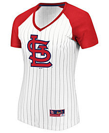 Majestic Women's St. Louis Cardinals Every Aspect Pinstripe T-Shirt