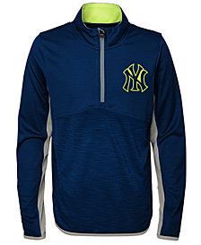 Outerstuff New York Yankees Excellence Quarter-Zip Pullover, Big Boys (8-20)