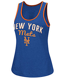 G-III Sports Women's New York Mets Power Punch Glitter Tank