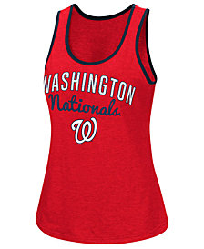 G-III Sports Women's Washington Nationals Power Punch Glitter Tank
