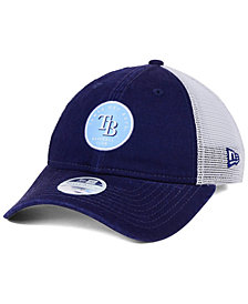 New Era Women's Tampa Bay Rays Washed Trucker 9TWENTY Cap
