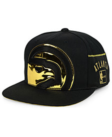 Mitchell & Ness Atlanta Hawks Patent Cropped Snapback Cap