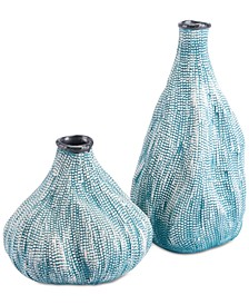 Silica Teal Vase Collection