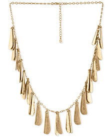 "RACHEL Rachel Roy Gold-Tone Shaky Charm Collar Necklace, 18"" + 2"" extender"