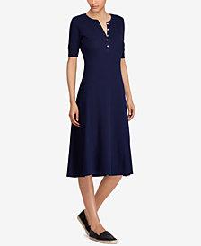 Lauren Ralph Lauren Waffle-Knit Cotton Dress