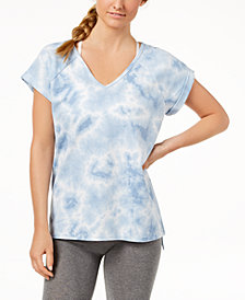 Ideology Tie-Dyed Strappy Back T-Shirt, Created for Macy's