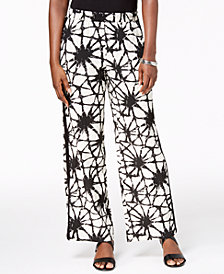 JM Collection Printed Pull-On Tuxedo Pants, Created for Macy's