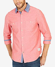 Nautica Men's Solid Chambray Classic-Fit Shirt
