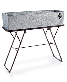 Galvanized Metal Beverage Tub & Stand
