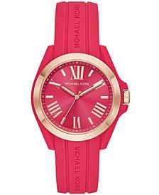 Michael Kors Women's Bradshaw Pink Silicone Strap Watch 38mm