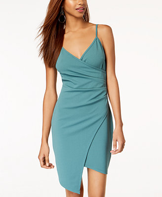 Juniors' Sleeveless Faux Wrap Dress by Almost Famous