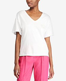 Lauren Ralph Lauren Bullion-Patch Jersey T-Shirt