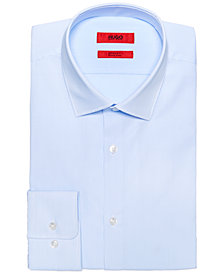 HUGO Men's Slim-Fit Light Blue Thin Stripe Dress Shirt