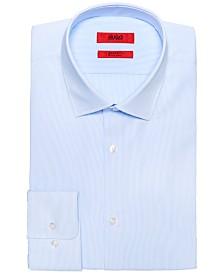HUGO Men's Slim-Fit Light Blue Thin Stripe Dress Shirt
