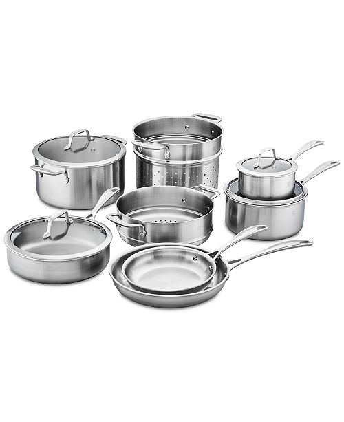 J.A. Henckels Zwilling Spirit Stainless Steel 12-Pc. Cookware Set