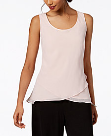 Alex Evenings Ruffled-Hem Top