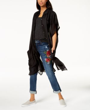 BUTTON-UP SHIRT & COVER-UP