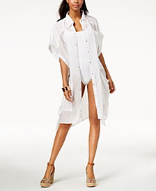 Steve Madden Button-Up Shirt & Cover-Up