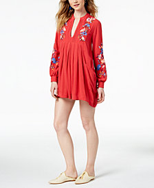 Free People Mia Embroidered Mini Dress