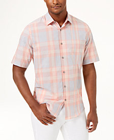 Alfani Men's Classic Fit Plaid Shirt, Created for Macy's