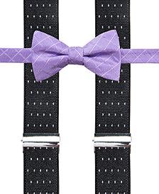 Alfani Men's Grid Pre-Tied Bow Tie & Suspender Set, Created for Macy's