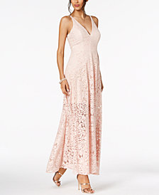 XSCAPE Illusion Lace A-Line Gown