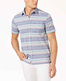 Tommy Hilfiger Men's Gibson Striped Shirt, Created for Macy's