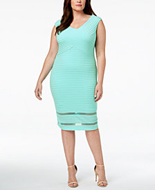 Calvin Klein Plus Size Ribbed Sheath Dress