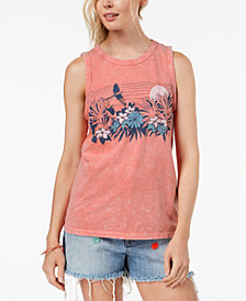 Lucky Brand Cotton Graphic Tank Top, Created for Macy's