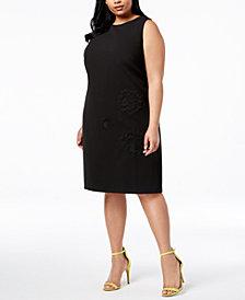 Betsey Johnson Plus Size Embroidered Sheath Dress
