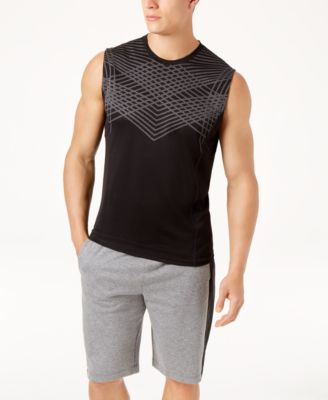 Men's Jacquard Sleeveless T-Shirt, Created for Macy's