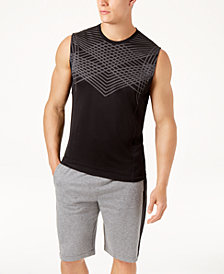 ID Ideology Men's Jacquard Sleeveless T-Shirt, Created for Macy's
