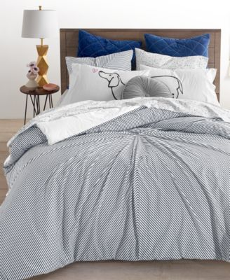 CLOSEOUT! 2-Pc. Knot Stripe Twin Comforter Set, Created for Macy's