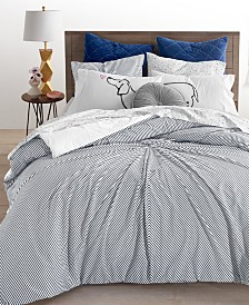 CLOSEOUT! Whim By Martha Stewart Collection 3-Pc. Knot Stripe Full/Queen Comforter Set, Created for Macy's