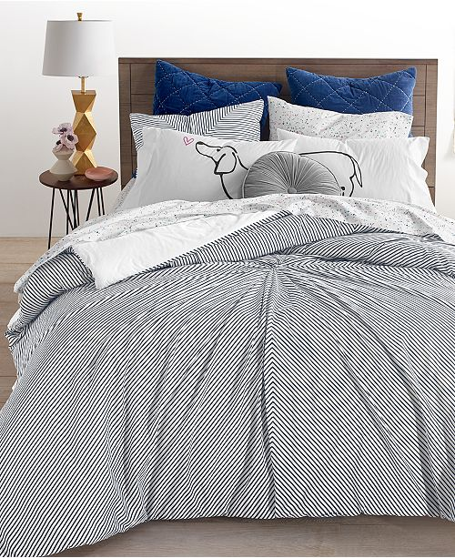 Martha Stewart Collection CLOSEOUT! Knotted Stripe Comforter Sets, Created for Macy's