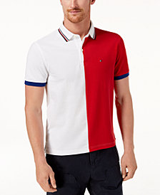 Tommy Hilfiger Men's Logo Colorblocked Slim Fit Polo