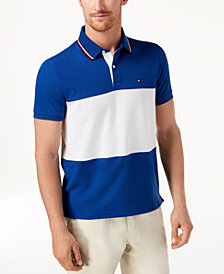 Tommy Hilfiger Men's Logo Colorblocked Custom Fit Polo