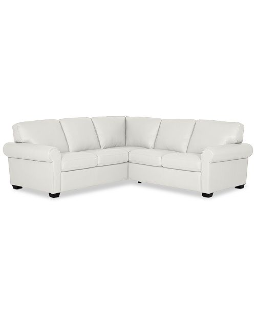 Prime Orid 2 Pc L Shaped Leather Sectional Sofa Created For Macys Ncnpc Chair Design For Home Ncnpcorg