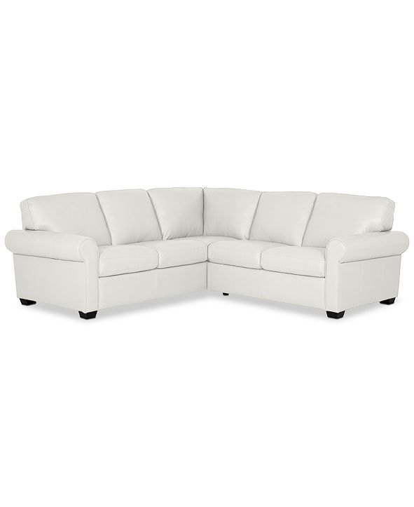 """Furniture Orid 2-Pc. """"L""""-Shaped Leather Sectional Sofa, Created for Macy's"""