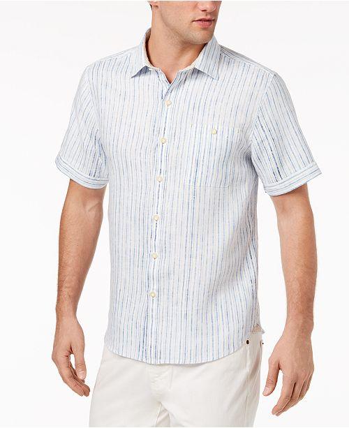Tommy Bahama Men's Stripe Del Soul Linen Camp Shirt