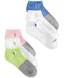 Polo Ralph Lauren Women's 6-Pk. Colorblocked Low-Cut Socks