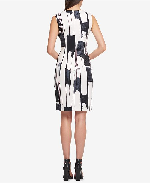 17e5c0d649f DKNY Brushstroke-Print Sheath Dress