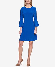 Tommy Hilfiger Bell-Sleeve Sheath Dress