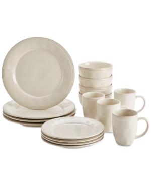 Rachael Ray Cucina Ricotta White 16-Pc. Dinnerware Set, Service for 4